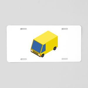 CM Isometric Yellow Van Aluminum License Plate