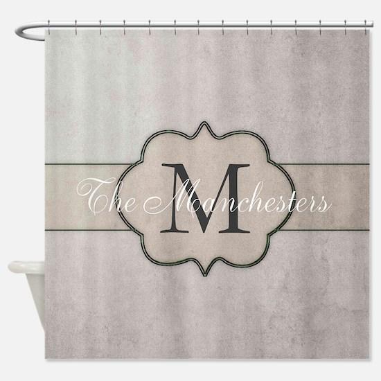 Cute Monogram Shower Curtain