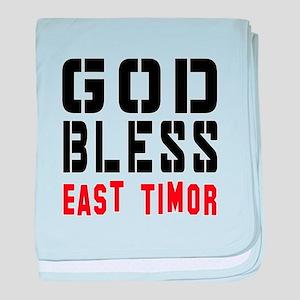 God Bless East Timor baby blanket