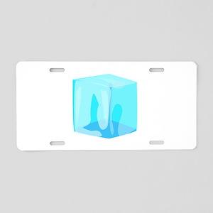 Ice cube Aluminum License Plate