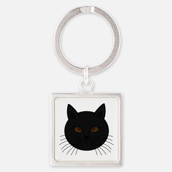 Black Cat Face Keychains