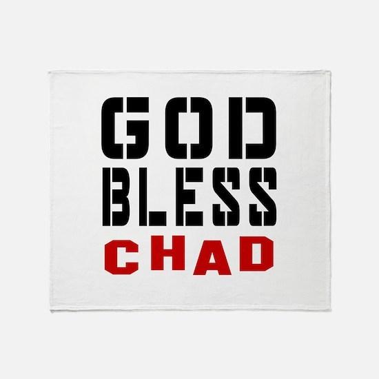 God Bless Chad Throw Blanket