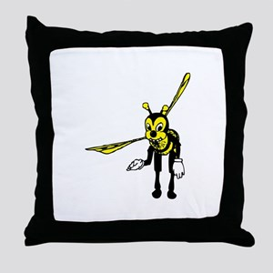 Bowing Bee Throw Pillow