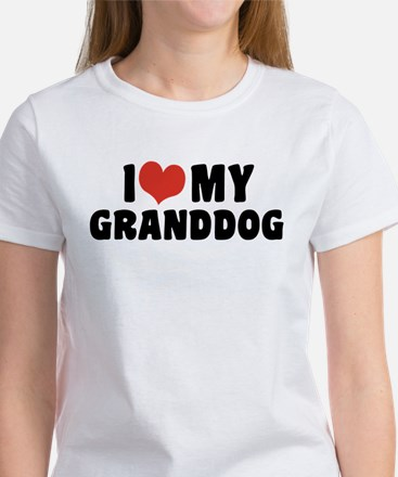 I Love My Granddog Women's T-Shirt