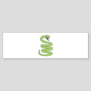 Snake Coiled Bumper Sticker