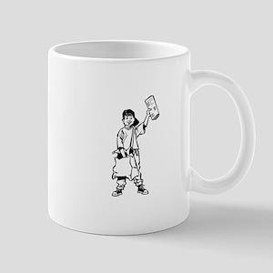 Paperboy delivering newspaper Mugs