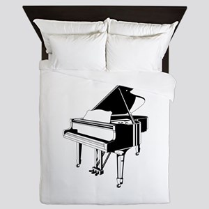 Piano blackwhite Queen Duvet