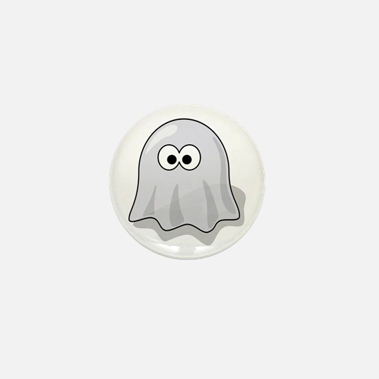 Cartoon Ghost Mini Button