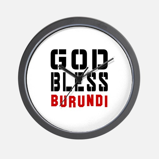 God Bless Burundi Wall Clock