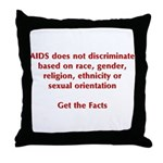 AIDS Doesn't Discriminate Throw Pillow
