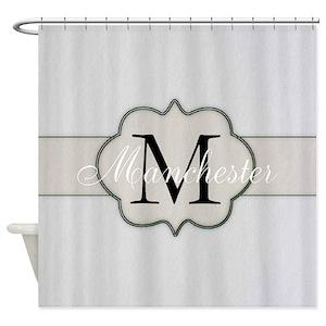 Monogram Shower Curtains Cafepress