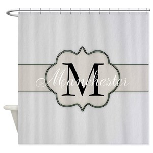 Monogram Shower Curtains Cafepress