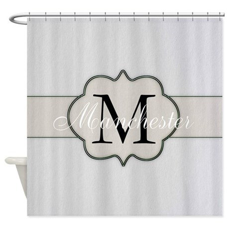 Great Rustic Monogram By LH Shower Curtain