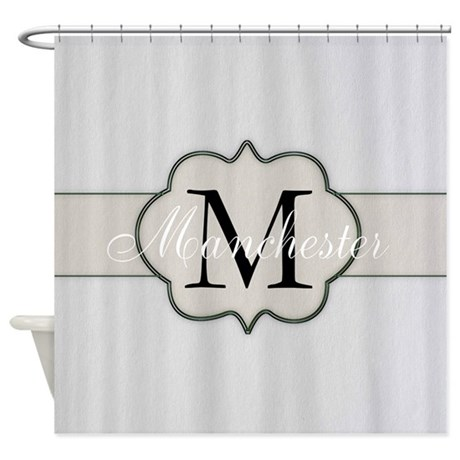 Rustic Monogram By LH Shower Curtain
