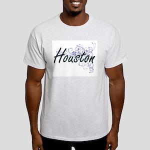 Houston surname artistic design with Flowe T-Shirt