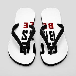 God Bless Belize Flip Flops