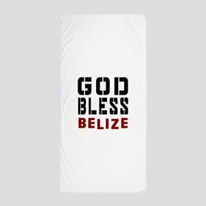 God Bless Belize Beach Towel