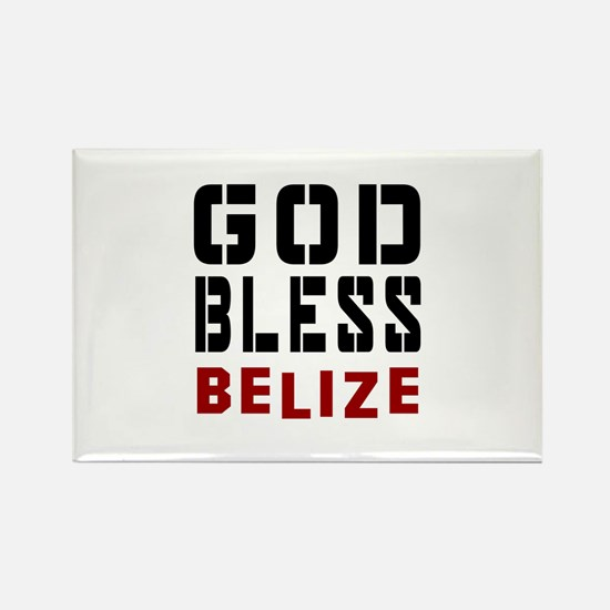 God Bless Belize Rectangle Magnet