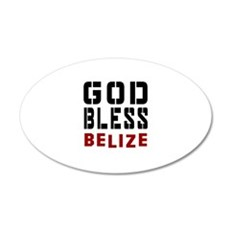 God Bless Belize Wall Decal