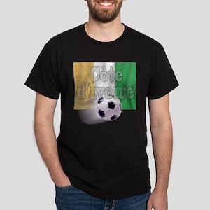 Soccer Flag Cote d'Ivoire Dark T-Shirt