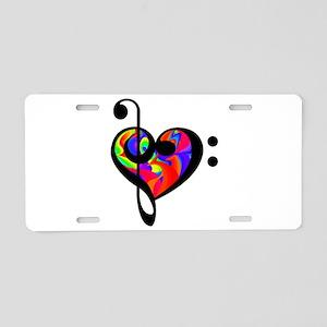 Rainbow clef Aluminum License Plate