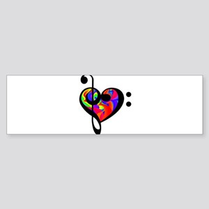 Rainbow clef Bumper Sticker
