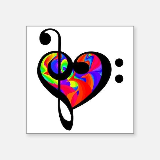 Rainbow clef Sticker
