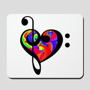 Rainbow clef Mousepad