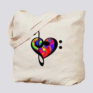 Rainbow clef Tote Bag