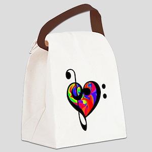 Rainbow clef Canvas Lunch Bag