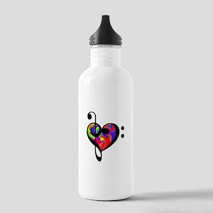 Rainbow clef Water Bottle