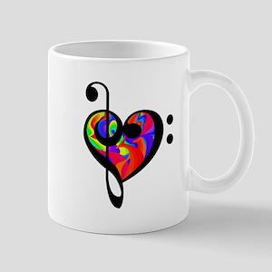 Rainbow clef Mugs