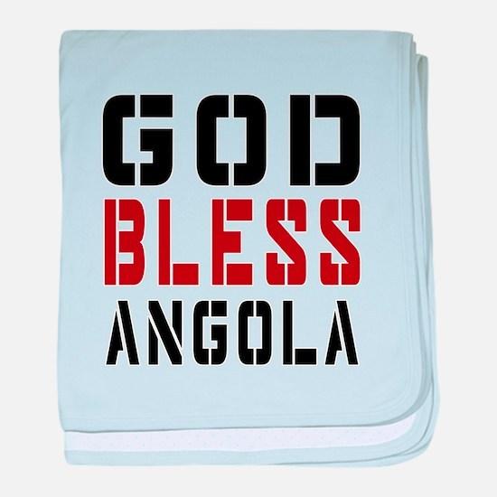 God Bless Angola baby blanket