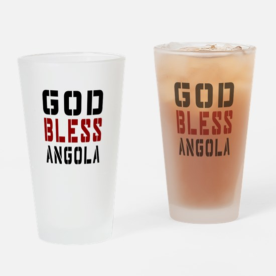 God Bless Angola Drinking Glass