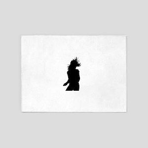 Pop singer silhouette 5'x7'Area Rug