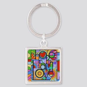 Hope, Faith, Love Keychains