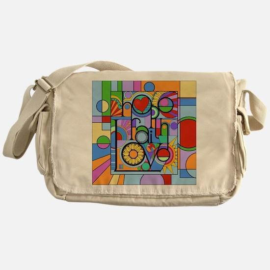 Hope, Faith, Love Messenger Bag