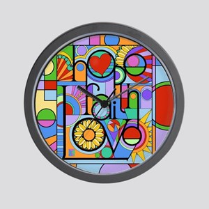 Hope, Faith, Love Wall Clock