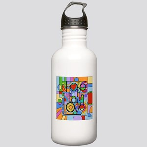 Hope, Faith, Love Water Bottle