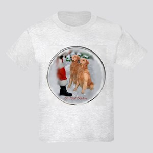 Golden Retriever Christmas Kids Light T-Shirt