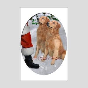 Golden Retriever Christmas Mini Poster Print