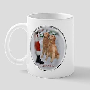 Golden Retriever Christmas Mug