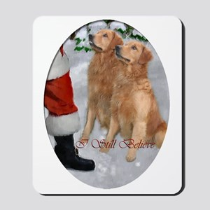 Golden Retriever Christmas Mousepad