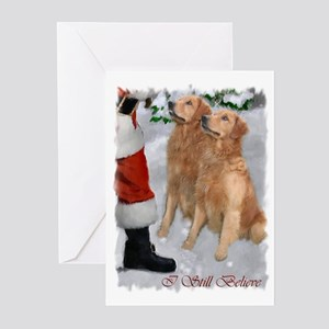 Golden Retriever Christmas Greeting Cards (Pk of 1