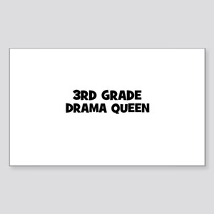 3rd Grade Drama Queen Rectangle Sticker
