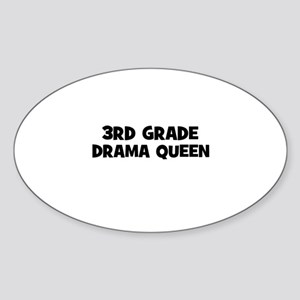 3rd Grade Drama Queen Oval Sticker