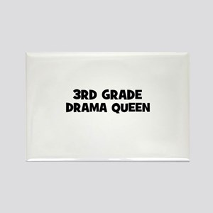 3rd Grade Drama Queen Rectangle Magnet
