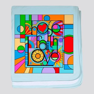 Hope, Faith, Love baby blanket