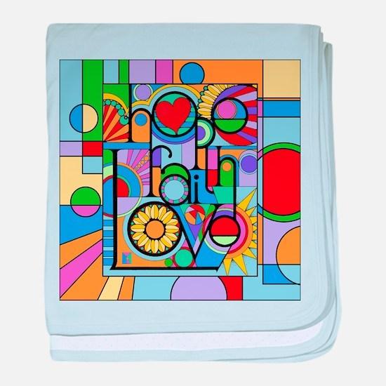 Hope, Faith, Love baby blanket