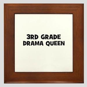 3rd Grade Drama Queen Framed Tile